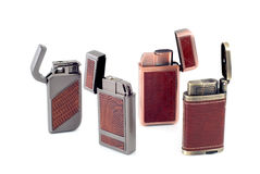 Four lighters Stock Photo