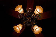 Four lights on fan Royalty Free Stock Photos