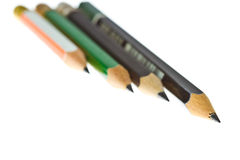 Four lined pencils Royalty Free Stock Photography