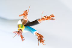 Four-lines cable close up Royalty Free Stock Image