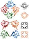Four lion design set Stock Images