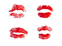 Four lips Stock Photos