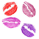 Four lips imprints Royalty Free Stock Images