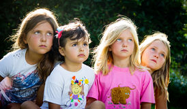 Four little girls Royalty Free Stock Photo