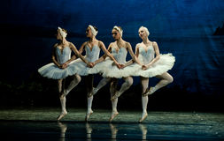 Four Little Swan Dance. In January 5, 2014 Russia St Petersburg Ballet Theater in Jiangxi Nanchang productions of Swan Lake Royalty Free Stock Images