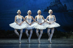 Four Little Swan Dance. In January 5, 2014 Russia St Petersburg Ballet Theater in Jiangxi Nanchang productions of Swan Lake Stock Photography