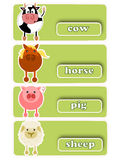Four livestock icons Royalty Free Stock Images