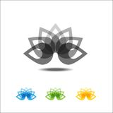 Four lotus icons Royalty Free Stock Image