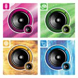 Four loudspeakers Royalty Free Stock Image