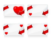 Four love card Stock Photos
