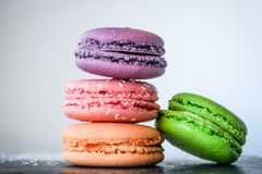 Four Macaroons Royalty Free Stock Photography