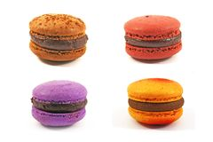 Four macaroons Royalty Free Stock Photo