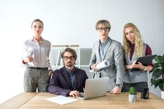 Young businesspeople in office royalty free stock photography