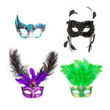 Four Mardi Gras Masks. Four ornate masks for Mardi Gras, Carnival, Halloween or the opera Royalty Free Stock Photography