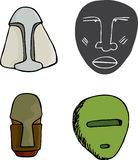 Four Masks Royalty Free Stock Photography