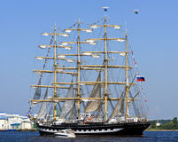 Four-masted barque Krusenstern, Riga (Latvia) Royalty Free Stock Images