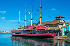 Four masted sailing ship stock images