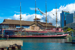 Four masted sailing ship. Located at the Hawaii Maritime Musuem Stock Photo