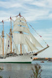 Four masted tall ship Esmeralda Stock Images