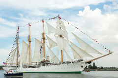 Four masted tall ship Esmeralda Stock Image