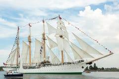 Four masted tall ship Esmeralda Stock Image