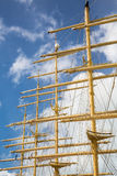 Four Masts and Rigging Stock Photo