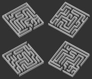 Four maze 3d Stock Photos