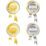 Four medals Royalty Free Stock Images