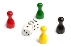 Four meeples Stock Photo