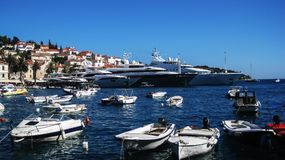 Mega yachts stock photo