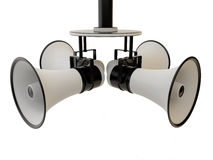 Four megaphone Stock Photos