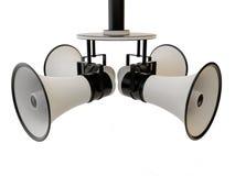 Four megaphone Stock Photos