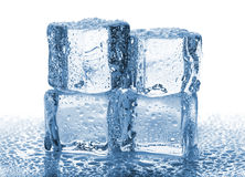 Four melted ice cubes stock photos