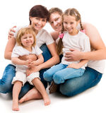 Four members family Stock Photography