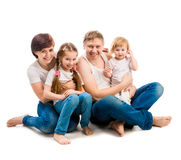 Four members family Royalty Free Stock Photo