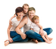 Four members family Stock Photo