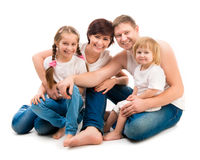 Four members family Royalty Free Stock Photography