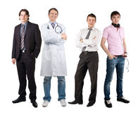Four men of different professions Royalty Free Stock Images