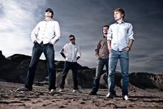 Four men outdoors Stock Photos