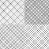 Four mesh seamless patterns with dashed lines Stock Photo
