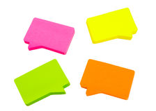 Four Message Pads Royalty Free Stock Photo