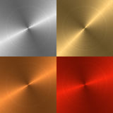 Four Metal Backgrounds Stock Image