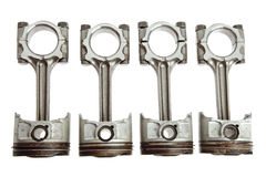 Four Metal Pistons Stock Images