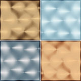 Four metal tile isolated on a white background Stock Photos