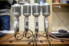 Four microphone Royalty Free Stock Image