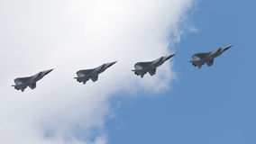 Four MiG-31 at the Victory Parade Royalty Free Stock Image