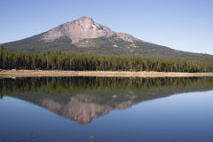 Four Mile Lake Mount McLoughlin Klamath County Oregon Cascade Mo Stock Photo