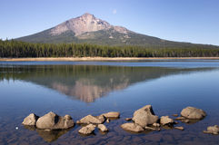 Four Mile Lake Mount McLoughlin Klamath County Oregon Cascade Mo royalty free stock image