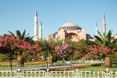 Four minaret mosque. Four  minaret mosque in turkish capital Istanbul Stock Photo