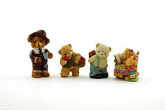 Four miniature bears Stock Photo